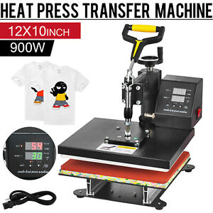 12 X 10 Digital Heat Press Sublimation Transfer Machine T shirt 360 Swing Away