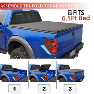 Soft Tri fold Tonneau Assemble Cover For 1997 2003 Ford F 150 6 5ft Standard Bed