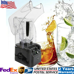 Heavy Duty Commercial Soundproof Cover Blender Mixer Smoothie Maker 2 2kw 2 2l