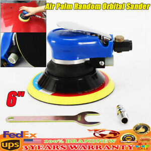 6inch Air Palm Orbital Sander Random Hand Sanding Pneumatic Round 10000 Rpm New