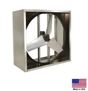 Exhaust Fan Commercial Direct Drive 24 1 2 Hp 115v 1 Phase 5 910 Cfm