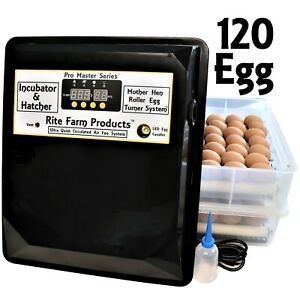 Rite Farm Products Pro Master Series 120 Chicken Egg Incubator Hatcher Turner