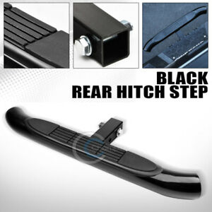 2 Stainless Black Trailer Towing Receiver Rear Hitch Step Bar Bumper Guard C16