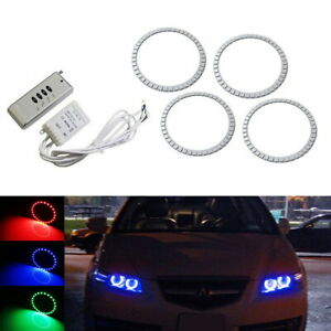 7 Color Rgb Led Angel Eye Halo Rings W Wireless Remote For 2007 2008 Acura Tl
