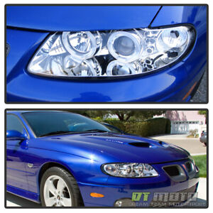 2004 2005 2006 Pontiac Gto Led Halo Projector Headlights Ls1 Ls2 Lamp Left Right