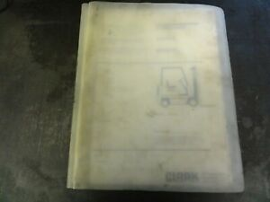 Clark Gpx230e Forklift Parts Manual 2794608