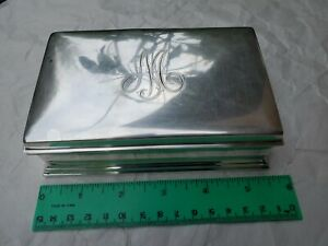 Gorham Sterling Silver Cigar Cigarette Humidor Case Jewelry Trinket Box 314