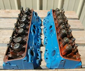 Pair Of 1975 1986 Gm Chevy Cylinder Heads 462624 350 400 Cu Dated 1978
