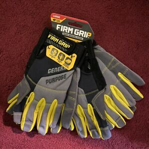 Work Glove Touchscreen Compatible Gloves Synthetic Leather Large Gray 3pck New
