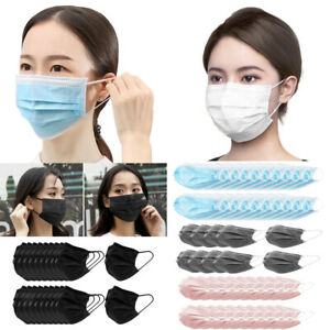 10 20 30pcs Disposable Face Mask 3 ply Earloop Mouth Cover Breathable Anti dust