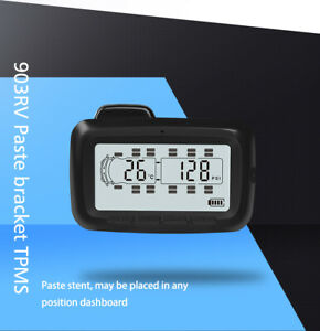 Lcd Tpms Tyre Pressure Monitoring System 8 Sensors Repeater For Trailer Rv