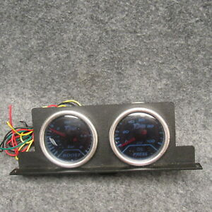 Dragon Gauges Turbo Boost 1 To 2 Oil Pressure 0 To 100 Used W Bezel 50475