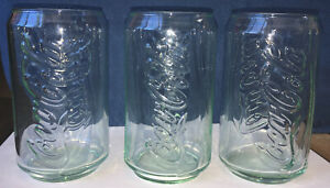 Coca-Cola 12OZ Can Glass Set Of 3 New