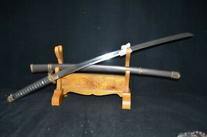 Special Offer Collectable Japanese Samurai Military Sword Sharp Blade Iron Saya