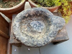 1800 S Ancient Old Hand Caved Marble Stone Mortar Bowl Garden Decor Bowl Pot