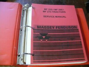 Massey Ferguson Mf 255 265 275 Tractor Service Manual 399 Pages