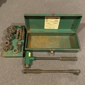 Greenlee 1804 Ratchet Knockout Puller Driver W 3 4 2 Conduit Punch Die Set