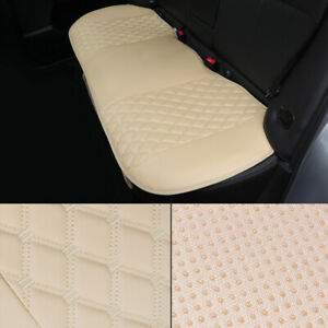 Pu Leather Car Rear Back Seat Cover Cushion Pad Protector Embroidered New Design
