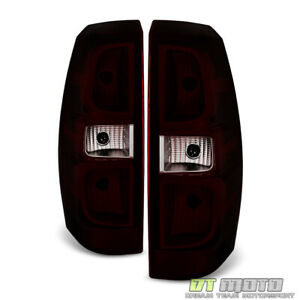 Red Smoke 2007 2013 Chevy Avalanche Tail Lights Lamps Aftermarket Set Left right