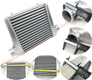 Universal Intercooler 18x12x3 2 5 Od Inlet Outlet Bar And Plate