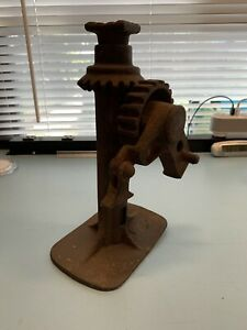 Rare Vintage Antique Bottle Jack Cast Iron For 20 s 30 s Auto Car truck