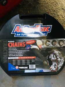Auto Trac Track 0155010 Tire Snow Chains Self Tightening