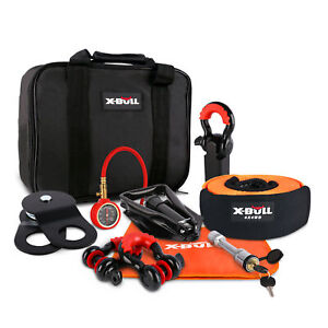 X Bull Winch Recovery Accessory Snatch Pulley Block Bow Shackles Kit 4wd