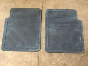 Vintage Subaru Oem Car Floor Mats Blue