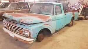 1963 Ford F100 Front Bumper Painted White 674507
