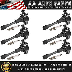 Ignition Coil Spark Plug 6pcs For 2007 2017 Nissan Altima Maxima 350z Uf550 1406