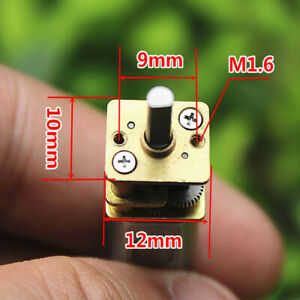 Mini Micro N20 Gear Motor Slow Speed Full Metal Gearbox Diy Robot Car Dc 3v 6v