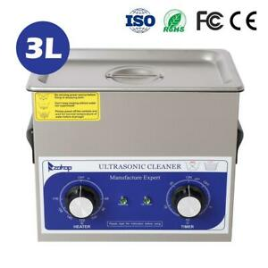 3l Industry Digital Ultrasonic Cleaner Heater Timer Stainless Jewel Clean