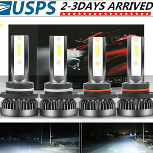 6000k Mini 9005 9006 Combo Led Headlight Kit 3200w 520000lm High Low Beam Bulb