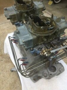 Weiand Tunnel Ram Intake Manifold Small Block Chevy 2 Holley 650 Carbs