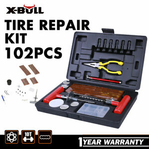 X Bull 102pc Tire Repair Kit Diy Flat For Car Truck Motorcycle Home Plug Patch