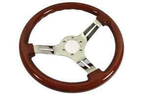 1968 1982 Corvette C3 Steering Wheel Mahogany Chrome 3 Spoke New