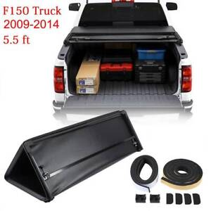5 5ft Soft Tri fold Tonneau Bed Cover For 2009 2014 Ford F 150