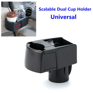 Car Scalable Dual Cup Holder Drink Ashtray Mobile Phone Bracket Storage Antiskid