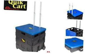 Dbest Products Quik Cart Two Wheeled Collapsible Handcart With Blue Standard