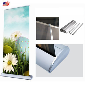 33 5 X 80 92 Premium Retractable Roll Up Banner Stand Display 1 Pack