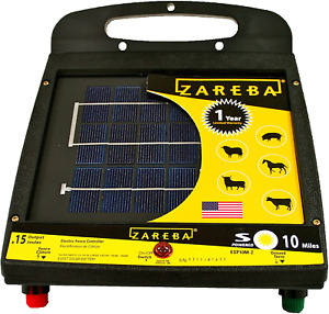 Zareba Esp10m z 10 mile Solar Low Impedance Electric Fence Fence Charger