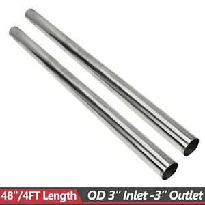 2pcs 3 4 Ft 48 Stainless Steel T304 Straight Exhaust Pipe Tube Piping Tubing