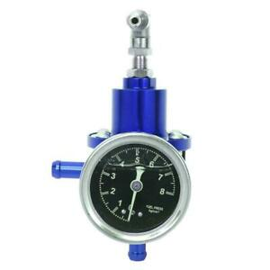 Aluminum 160psi 1 1 Fuel Pressure Regulator Kpa Oil Gauge Kit Blue Us