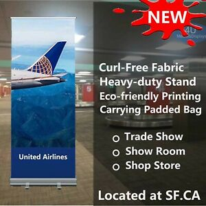 33 5x80 standard Retractable Roll Up Banner Stand Graphics Printed With Fabric