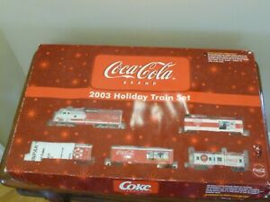 2003 COCA COLA  HOLIDAY TRAIN SET -  NEVER OUT OF BOX - ORIGINAL PACKAGING