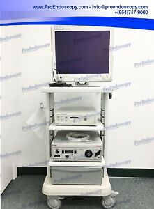 Stryker 1088 Hd Camera System Tower Set With Camera Head Light Source
