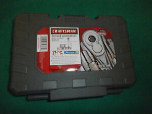 New Craftsman 17 Piece 1 4 Drive Metric Socket Wrench Set 34863