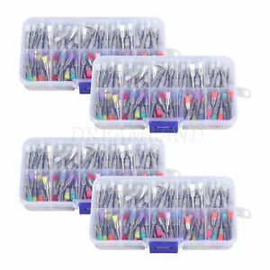 800x Dental Polishing Polisher Prophy Brush Rubber Latch Flat Mixed Color Sk 1