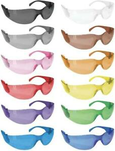 Crystal Full Color Safety Glasses Fits Adult And Youth pack Of 12