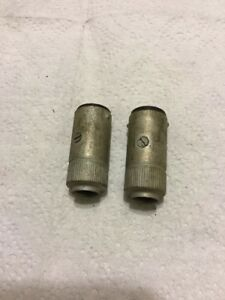 Rat Rod Old Vintage Wiring Connectors Cowl Light Bakelight Two Wire Ground Case